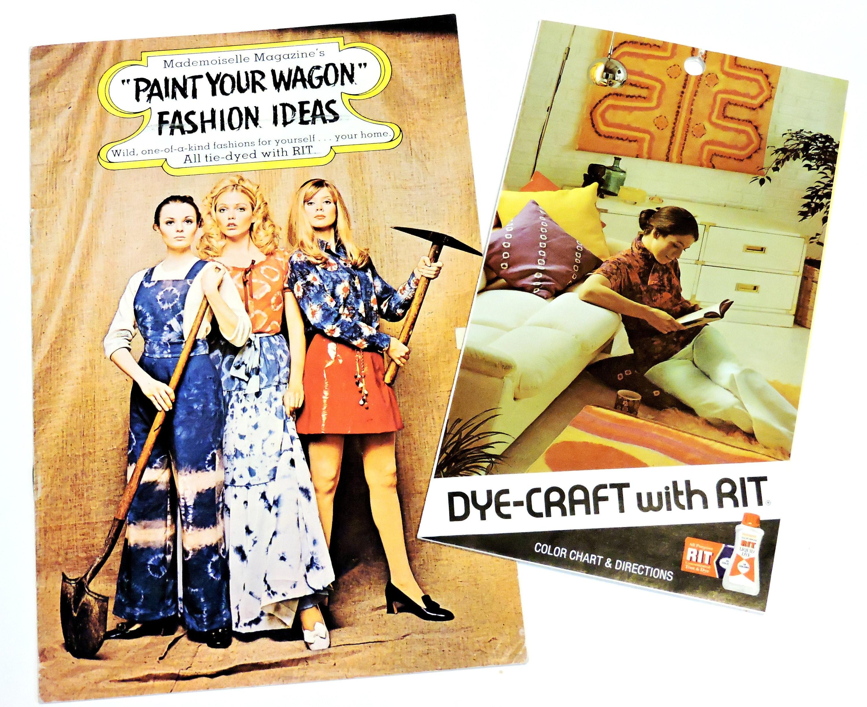 Paint Your Wagon Rit Dye Booklet Rit Dye Craft N Fancy Etsy