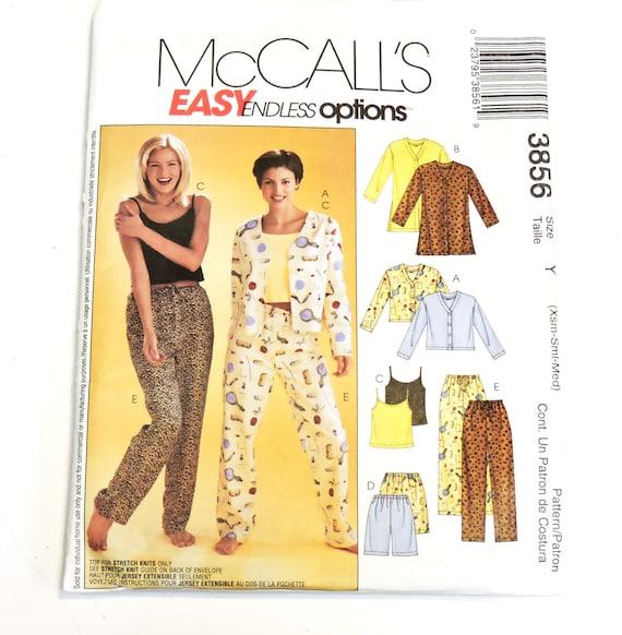 ... closer at 651d2 f3615 McCalls 3856 Pattern Ladies Sleepwear Womens  Pajamas Misses ... b551b337e