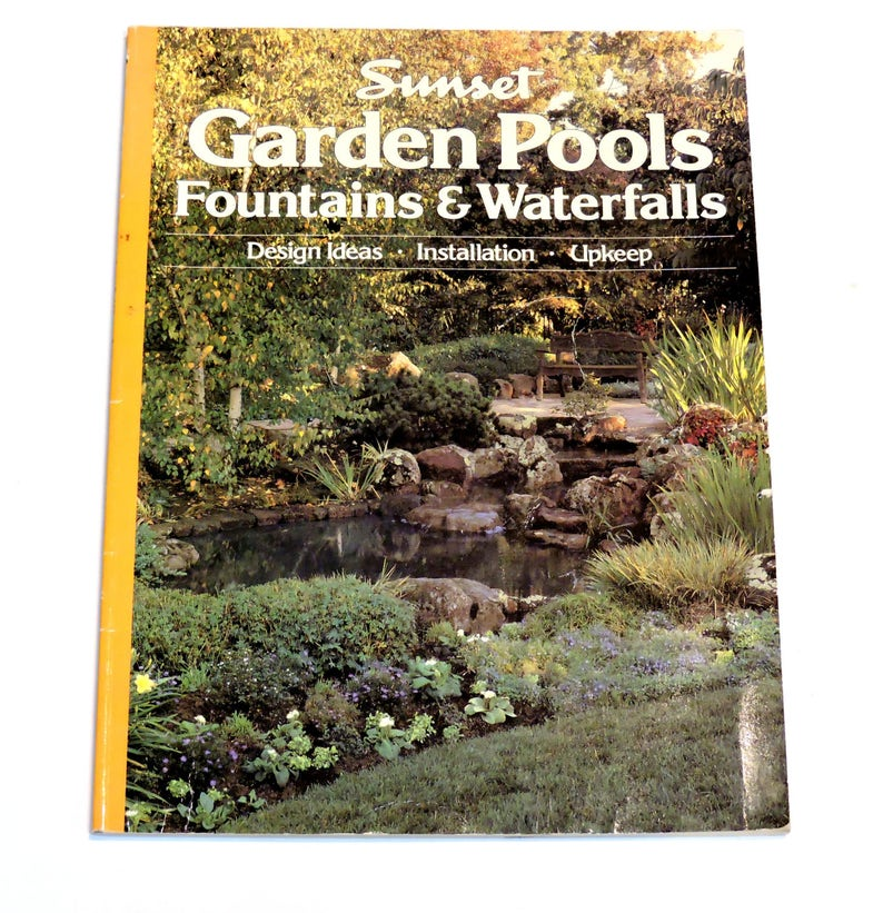 Delicieux Sunset Garden Pools Fountains Waterfalls Book, Landscape Design Ideas  Installation Upkeep Koi Goldfish Water Ponds And Plants Itsyourcountry