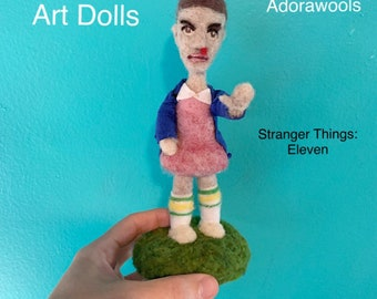 Eleven Doll from Stranger Things - Needle Felted Doll Only one available