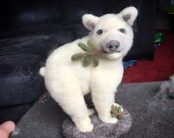 AdoraWools Polar Bear - Soft Sculpture - Gift