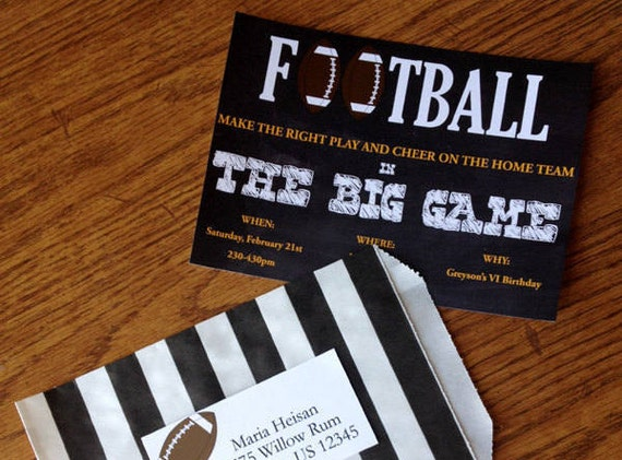 football birthday invitation football party football invitation