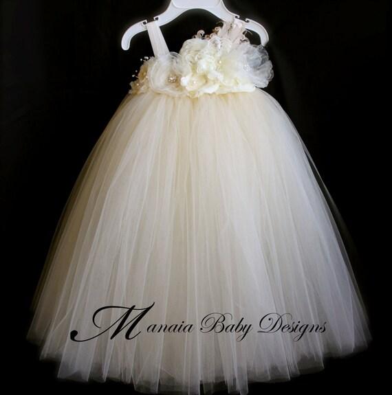 Ivory Vintage Flower Girl Dresses