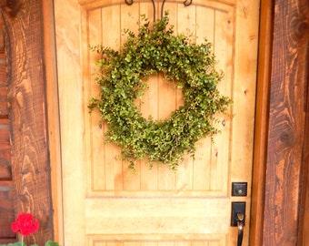 Summer Wreath-Eucalyptus Wreath-Farmhouse Decor-Outdoor Wreath-Farmhouse Wreath-Fall Door Wreath-Outdoor Wreath-Year Round Wreath-Gifts