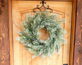 Christmas Wreath-Farmhouse Christmas-SNOWY PINE Wreath-Winter Door Wreath-Holiday Door Wreath-Primitive Christmas Wreath-Holiday Decor-Gifts