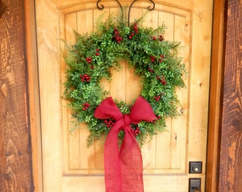 Summer Wreath-Wreath-BOXWOOD Wreath-Winter Door Wreath-Holiday Wreath-Outdoor Wreath-Christmas Wreath-Christmas Home Decor