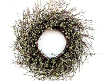 MINI TWIG WREATH-Green Mini Window Wreath-Wall Decor-Fall Wreath-Country Farmhouse Wreath-Rustic Home Decor-Table Centerpiece-Gifts