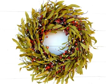 Fall Wreath-FALL Decor-TWIG Door Wreath-Autumn Wreath-Rustic Wreath-Fall Home Decor-Scented Pumpkin Spice-Fall Wreaths-Custom Made Wreaths-