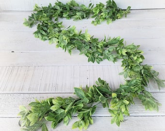 Greenery Garland-LEMON LEAF-Farmhouse Décor-Greenery-Spring Garland-Wedding Centerpiece-Summer Garland-Wedding Décor-Table Runner-Mantel