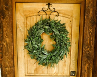 Door Wreath-Summer Wreath-Greenery Wreath-Farmhouse Wreath-California Eucalyptus-Outdoor Wreath-Farmhouse Decor-Housewarming Gift-Wreaths