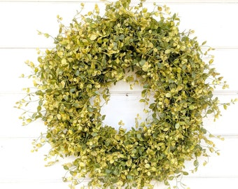 READY to SHIP-Spring Wreath-Summer Wreath-Bog Pimpernel-Farmhouse Decor-Fall Decor-Autumn Decor-Summer Wreath-Outdoor Wreath- Door Wreath