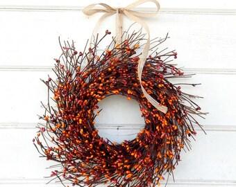 MINI TWIG WREATH-Fall Wreath-Pumpkin Spice Mini Window Wreath-Wall Decor-Fall Wreaths-Farmhouse-Rustic Home Decor-Table Centerpiece-Gifts