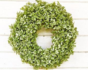 Holiday Wreath-Summer Wreath-Front Door Wreath-Farmhouse Wreath-Sweet Pea Wreath-Door Wreath for Summer-Spring Wreath-Outdoor Wreath-Gift