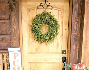 Farmhouse Decor-Wreaths-Fall Door Wreath-Bog Pimpernel-Farmhouse Decor-Fall Decor-Autumn Decor-Summer Wreath-Outdoor Wreath- Door Wreath