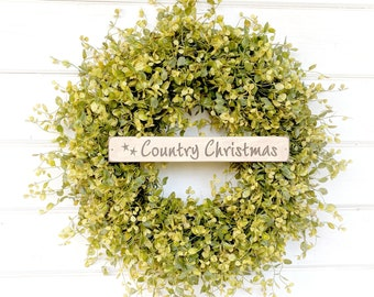 Christmas Wreath-Holiday Wreath-Greenery Wreath-Front Door Decor-Winter Wreath-Christmas Home Decor-Holiday Home Decor-Scent Wreaths