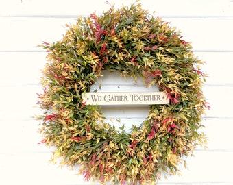New 2018-Fall Wreath-Autumn Wreath-Fall Door Wreath-Farmhouse Decor-Fall Decor-Autumn Decor-Outdoor Wreath-Front Door Wreath-Housewarming