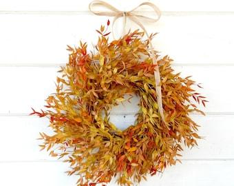 Mini Wreath-Window Wreath-Fall Wreath-Fall Farmhouse Decor-Fall Decor-Autumn Wreath-Wreath for Window-Wall Decor-Small Wreath-Gifts