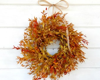 Fall MINI Wreath-Window Wreath-Fall Wreath-Farmhouse Decor-Fall Wall Hanging-Autumn Wreath-Artifical Wreath-Wall Decor-Small Wreath-Gifts