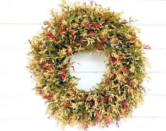 Fall Wreath-Autumn Wreath-NEW 2018-Fall Door Wreath-Farmhouse Decor-Fall Decor-Autumn Decor-Outdoor Wreath-Front Door Wreath-Housewarming
