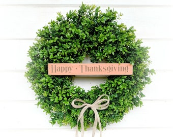 Fall Wreath-Fall Decor-Autumn Door Wreath-Boxwood Wreath-Farmhouse Wreath-Autumn Decor-Fall Decor-Door Wreath-Home Decor-Front Door Decor