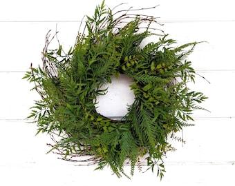 Fern Wreath-MINI Window Wreath-Twig Wreath-Fern Wreath-Mini FERN Wreath-Wall Decor-Gift for Mom-Wall Hanging-Small Wreath-Housewarming Gift