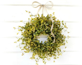 MINI Window Wreath-Greenery Wreath-Farmhouse Wreath-Small Wreath-Bog Pimpernel-Farmhouse Decor-Wall Decor-Wreaths-Home Decor-Cottage Decor