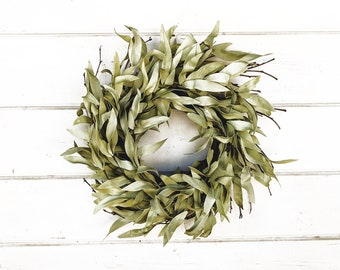 Mini Wreath-Small Wreath-MINI Bay Leaf Wreath-Frosted Bay Leaf-Spring Wreath-MINI Wreath-Twig Wreath-Rustic Wreath-Farmhouse Decor-Gifts