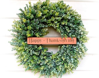 New 2018 Wreath-Eucalyptus Wreath-Farmhouse Decor-Choose KINDNESS-Summer Wreath-Fall Wreath-Winter Wreath-Door Sign-Wreaths-Door Decor-Gift