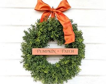 Fall Wreath-Fall Decor-Autumn Door Wreath-Boxwood Wreath-Farmhouse Wreath-Autumn Decor-Fall Decor-Door Wreath-Home Decor-Front Door Decor