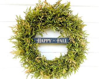 Fall Wreath-Greenery Wreath-Fixer Upper-Farmhouse Decor-Fall Door Wreath-Autumn Wreath-Door Sign-Wreaths-Housewarming Gift-Door Decor-Gifts