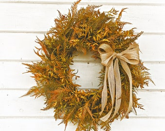 Fall Decor-Thanksgiving Wreath-Fall Wreath-Fall Fern-Greenery Wreath-Door Wreath-Farmhouse Wreath-Fall Home Decor-Autumn Decor-Door Wreath
