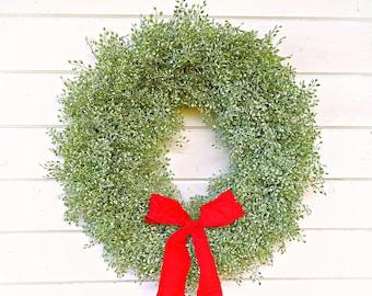 Christmas Wreath-Rustic Farmhouse Decor-Farmhouse Christmas-Frosted LUNA Wreath-Winter Wreath-Wreaths-Holiday Wreath-Holiday Decor-Gifts