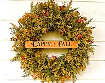 Fall Wreath-Fall Boxwood Wreath-NEW Fall Door Wreath-Greenery Wreath-Farmhouse Decor-Fall Decor-Outdoor Wreath-Thanksgiving Wreath-Gifts
