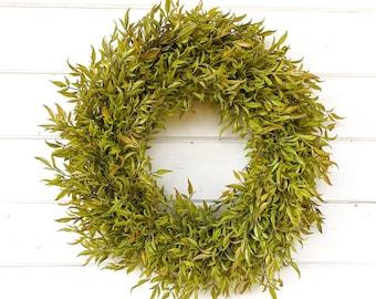 Fall Wreath-Farmhouse Wreath-Fall Door Wreath-Greenery Wreath-Farmhouse Decor-Fall Decor-Autumn Decor-Outdoor Wreath-Door-Housewarming Gift
