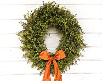 Farmhouse Wreath-Fall Wreath-Fall Farmhouse Decor-Thanksgiving Wreath-Baby Eucalyptus Wreath-Outdoor Wreath-Door Wreath-Housewarming Gift