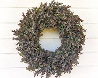 Fall Wreath-HEDGEROW Wreath-Modern Farmhouse Wreath-Fall Decor-Greenery Wreath-Winter Wreath-Farmhouse Decor-Summer Wreath-Housewarming Gift