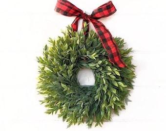 Farmhouse Decor-Christmas Wreath-Greenery Wreath-RAINWASH Mini Wreath-Small Wreath-Gift for Mom-Kitchen Wreath-Front Door Wreath-Gifts