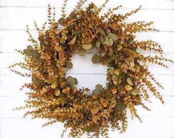 Fall Wreath- FALL CASCADE Wreath-Farmhouse Door Wreath-Greenery Wreath-Fall Home Decor-Outdoor Wreath-Thanksgiving Wreath-Front Door Wreath