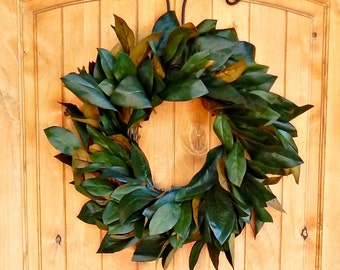 MAGNOLIA Wreath-Farmhouse Wreath-Magnolia Door Wreath-Outdoor Wreath-Rustic Door Wreaths-Housewarming Wreath-Wedding Gift-Gift for Mom