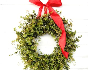 Farmhouse Wreath-Valentine Wreath-Valentines Day Decor-Winter-Door Wreath-Greenery Wreath-EUCALYPTUS Wreath-Summer Wreath-Housewarming Gift