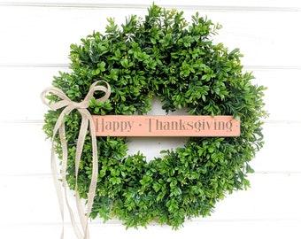 Thanksgiving Wreath-Fall Wreath-Fall Decor-Autumn Door Wreath-Boxwood Wreath-Autumn Decor-Fall Decor-Door Wreath-Home Decor-Front Door Decor
