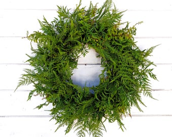 Fall Wreath-FERN Wreath-Door Wreath-Summer Wreath-Farmhouse Wreath-Fall Wreath-Greenery Wreath-Outdoor Wreath-Wedding Wreath-Weddings-Gift