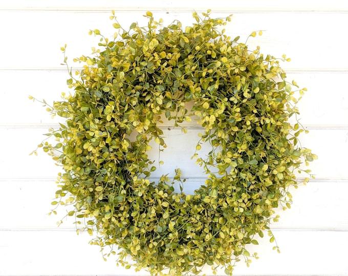 Featured listing image: Fall Wreath-NEW 2018-Autumn Wreath-Fall Door Wreath-Bog Pimpernel-Farmhouse Decor-Fall Decor-Autumn Decor-Outdoor Wreath-Front Door Wreath