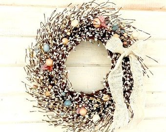 Easter Wreath-Spring Wreath-Easter Egg Wreath-Spring Door Wreath-Easter Door Decor-Holiday Wreath-Scented Wreaths-Custom Made Gifts-