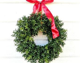 MINI Boxwood Wreath-NEW ENGLAND Boxwood-Window Wreath-Boxwood Wreath-Window Wreath-Artificial Boxwood Wreath-Wall Hanging-Small Wreath