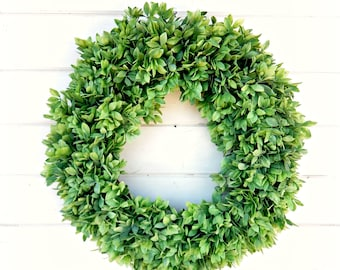 Farmhouse Decor-NEW 2018-Spring Wreaths-Greenery Wreath-Lemon Leaf WREATH-Farmhouse Home Decor-Spring Wreath-Summer Wreath-Front Door Wreath