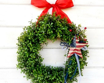 4th of July Wreath-Summer Wreath-4th of July-Patriotic Home Decor-July 4th Door Wreath-Summer Home Decor-Custom Made USA-Military Decor