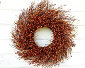 Fall Wreath-Fall Door Decor-Thanksgiving Wreath-PUMPKIN SPICE Door Wreath-Twig Wreath-Rustic Wreath-Fall Farmhouse Wreath-Fall Home Decor