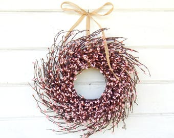 Pink Wreath-MINI Twig Wreath-PINK Mini Window Wreath-Wreaths-Baby Nursery-Baby Gift-Its a Girl-Easter Wreath-Pink Decor-Wall Decor-Gifts