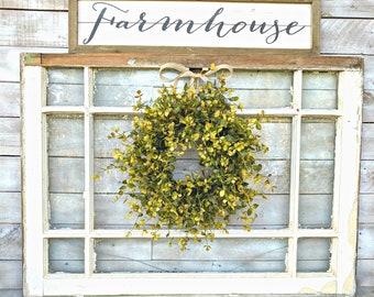 MINI Window Wreath-Greenery Wreath-Farmhouse Wreath-Small Wreath-Bog Pimpernel-Farmhouse Decor-Wall Decor-Wreaths-Home Decor-Cottage Decor
